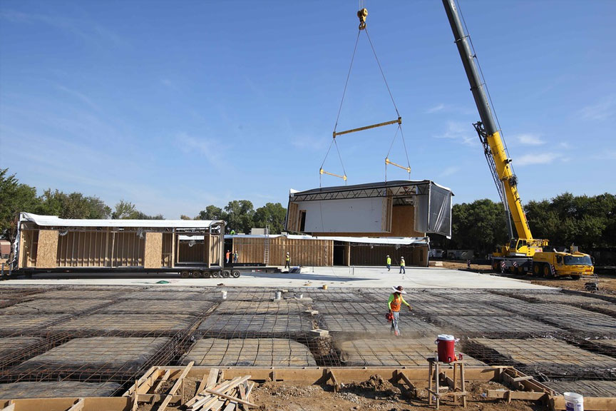 relocatable modular building construction