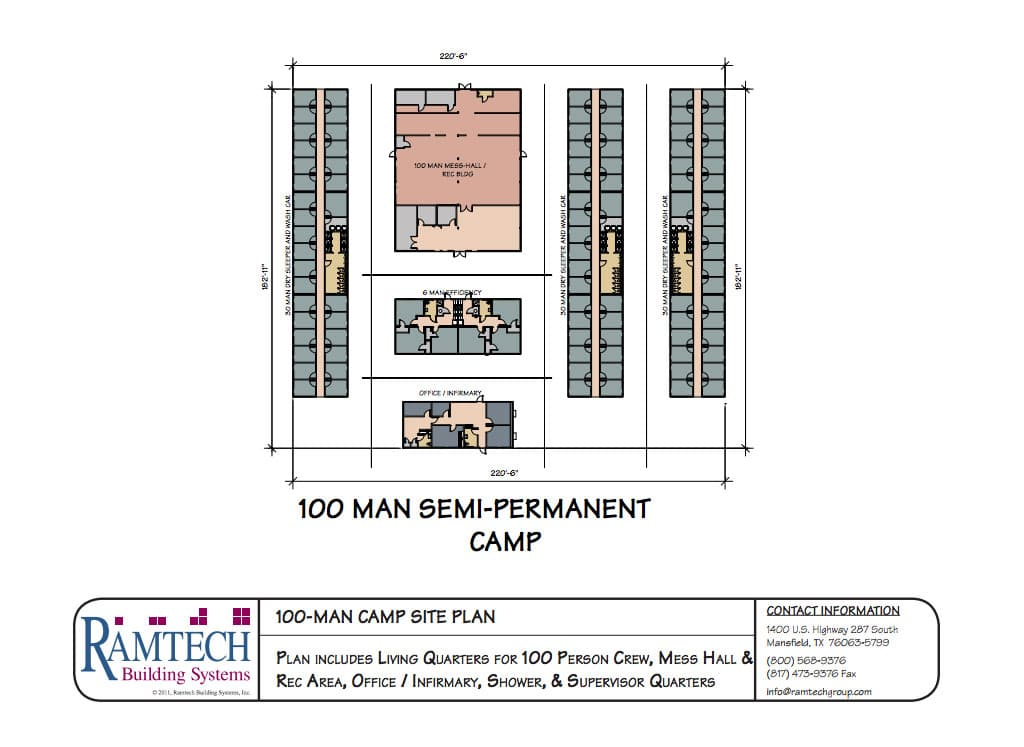 100-Man-Camp-Site-Plan floor plan