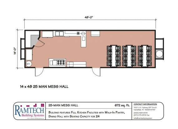 25 man mess hall floor plan