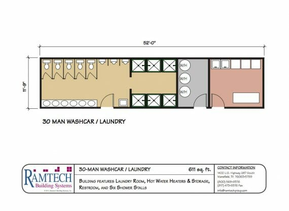 30 man washcar laundry floor plan