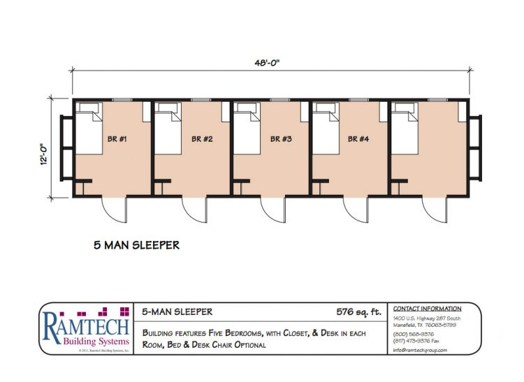 5 man sleeper floor plan