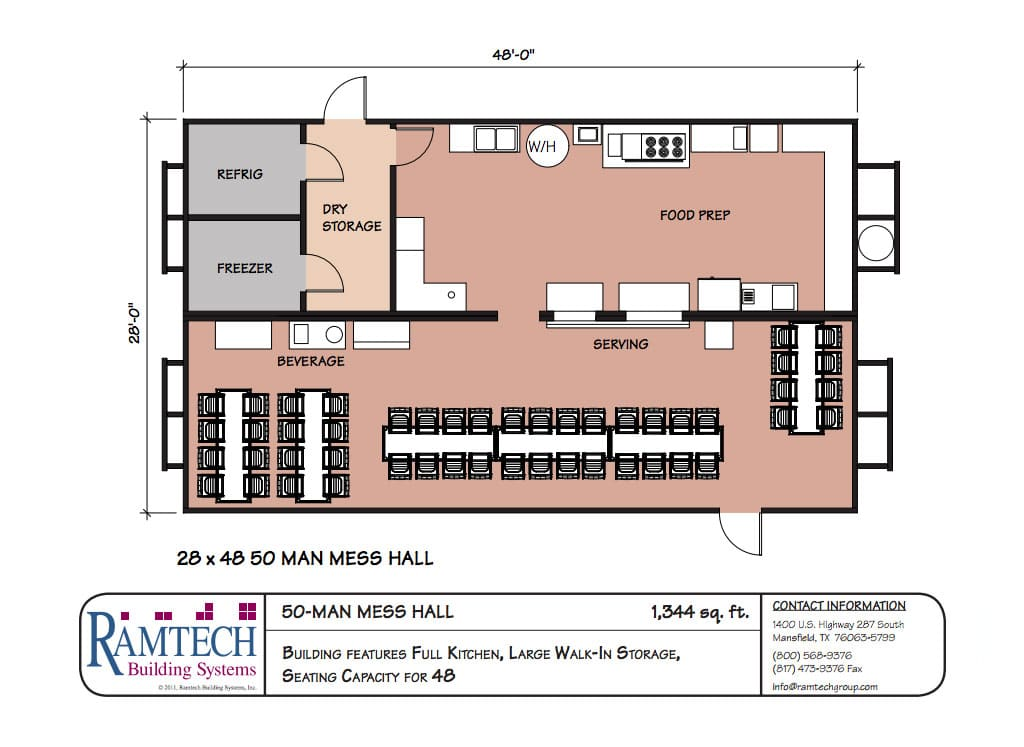 50 man mess hall floor plan