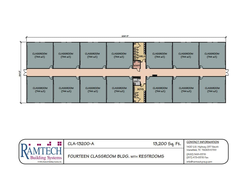 Ramtech Education School And Classroom Floor Plans