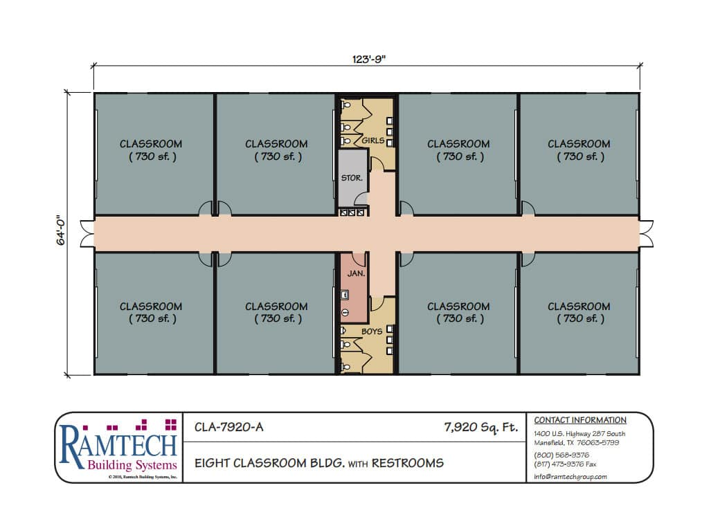 Modular Classroom Floor Plans ~ Ramtech education school and classroom floor plans