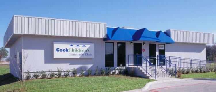 relocatable modular building Cook's Children, Clinic