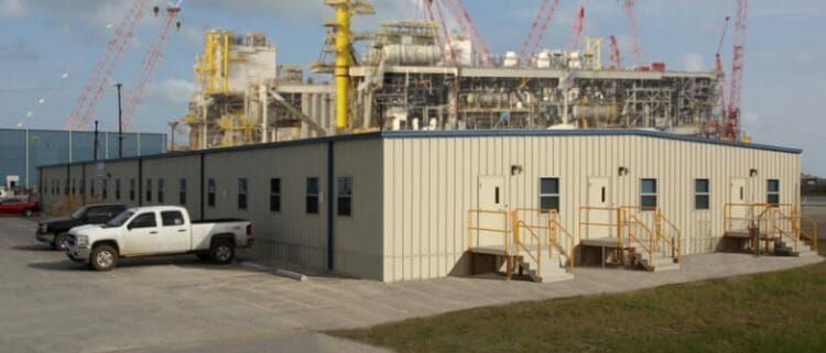 permanent modular building Gulf Marine Fabricator, Office Building