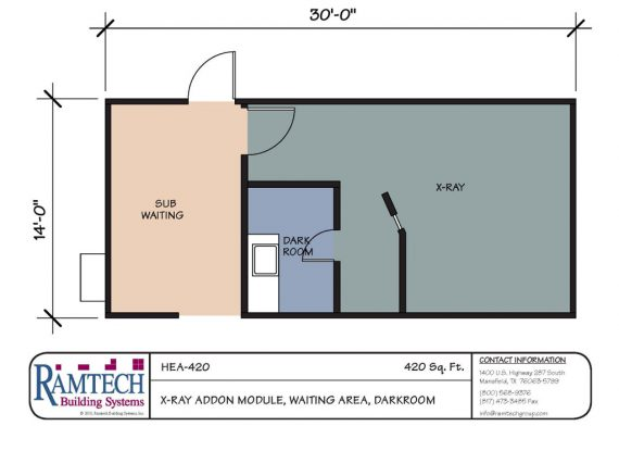 x-ray add on modular and waiting area floor plan