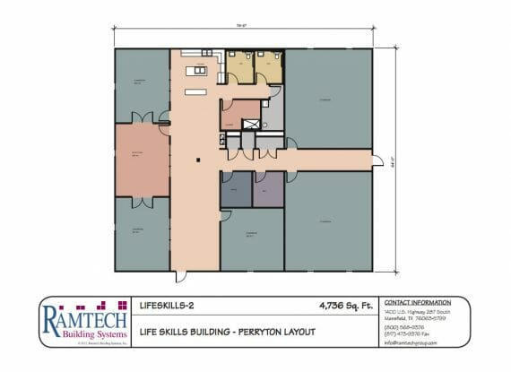life skills building floor plan