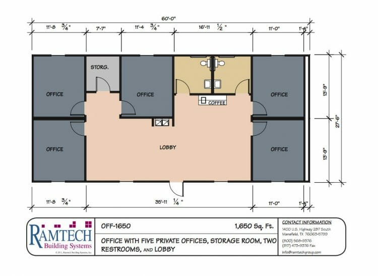 commercial office with private offices floor plan