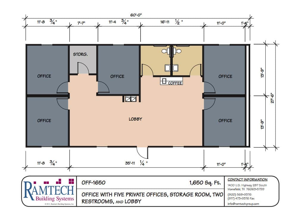 Superior Commercial Office With Private Offices Floor Plan