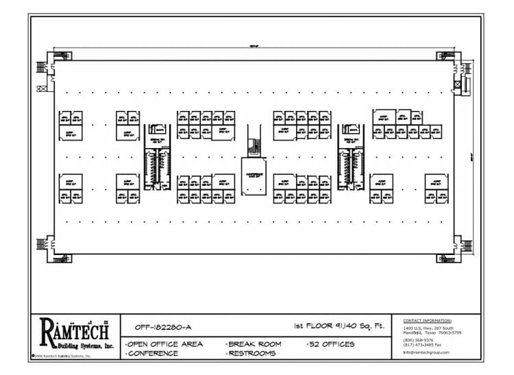 business office, business conference floor plan