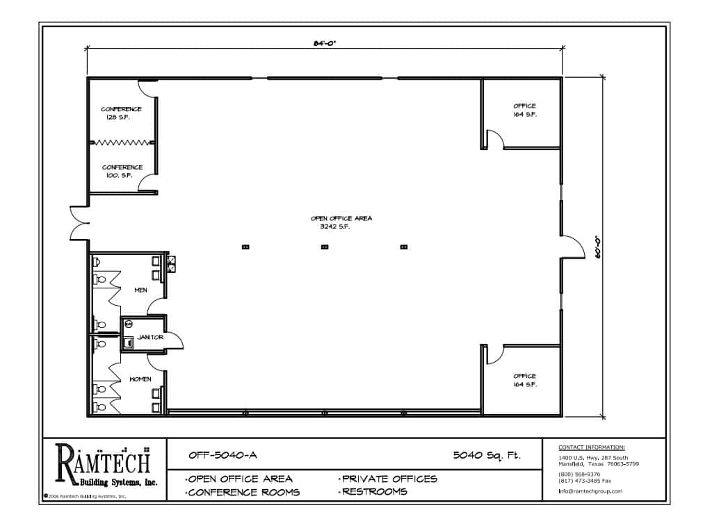 Small Office Building Floor Plans: Ramtech Relocatable And Permanent Modular Building Floor Plans