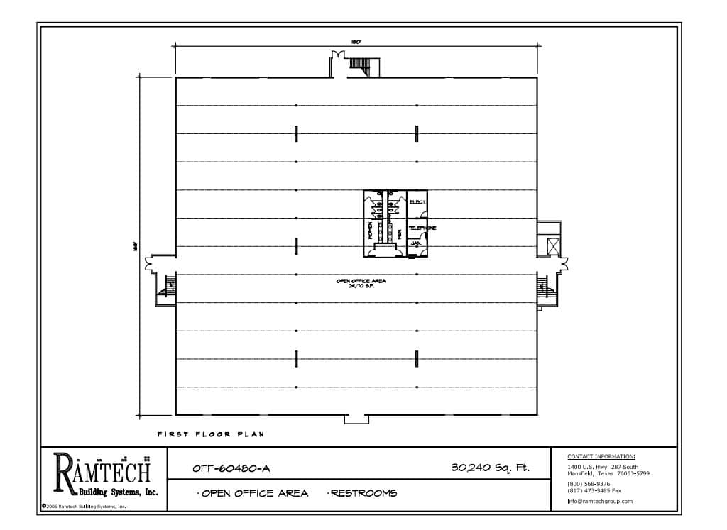 business office, business restroom floor plan