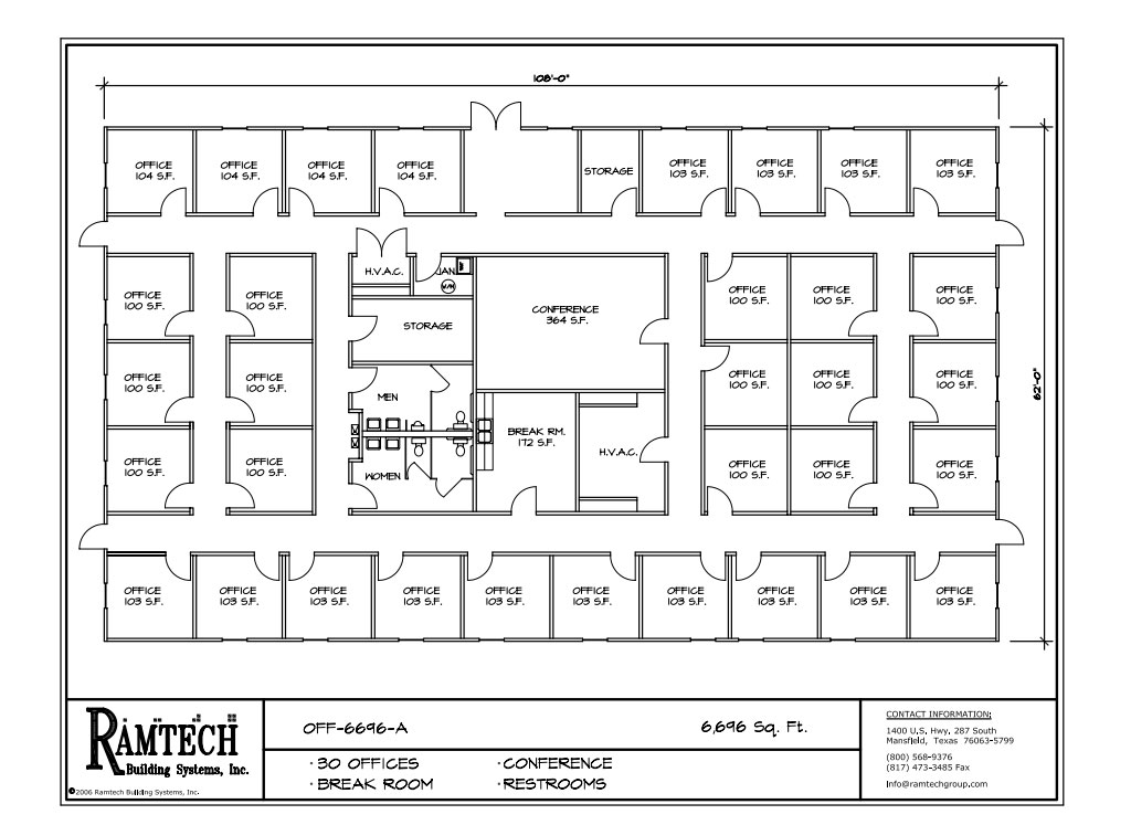 business office and conference room floor plan