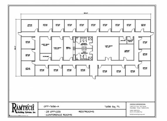 23 business offices and conference room floor plan