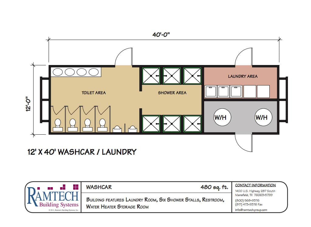 washcar floor plan