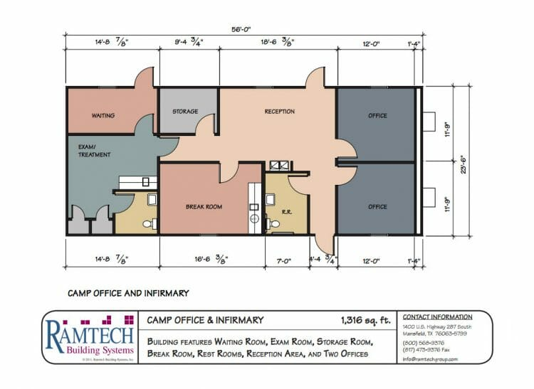 camp office infirmary floor plan