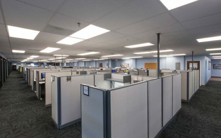 permanent modular building cameron LNG interior office