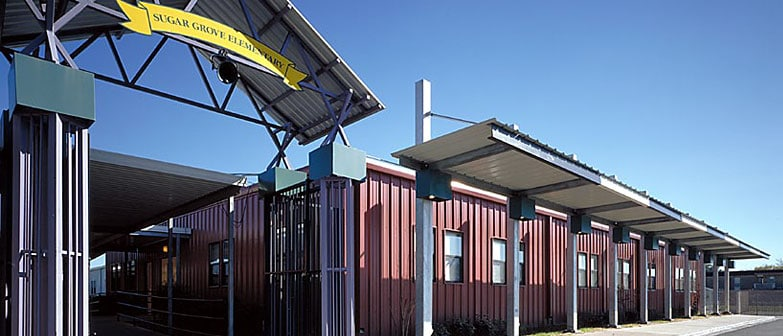 relocatable modular building HOUSTON ISD – CLASSROOM WING & CAFETERIA