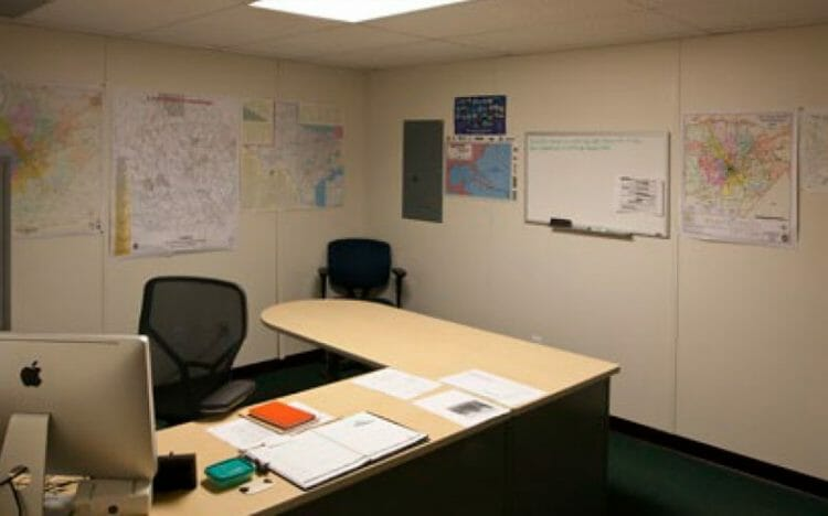 relocatable modular building San Antonio public works facility interior commercial modular building