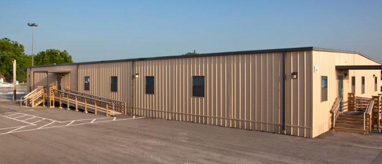 relocatable modular building San Antonio solid waste facility