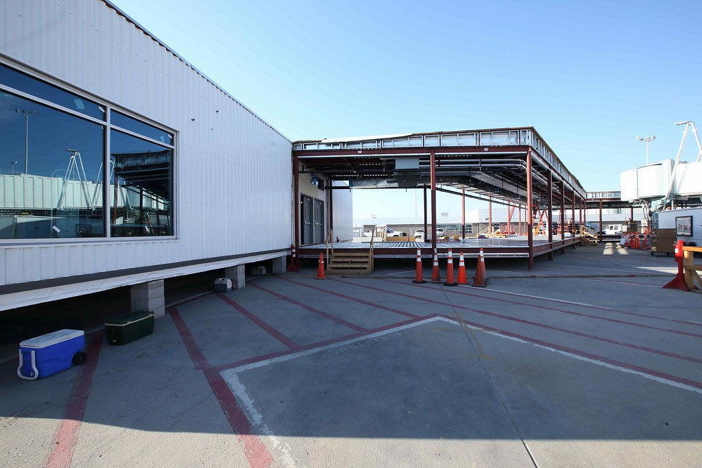 relocatable modular building Denver International Airport
