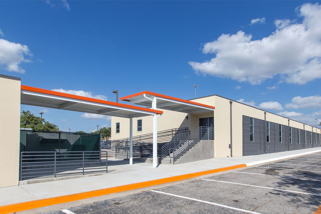 permanent modular building UT Dallas Classrooms
